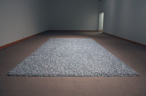 "Felix Gonzales-Torres , ""Untitled"" (Placebo), installation (wrapped candies), 1991"