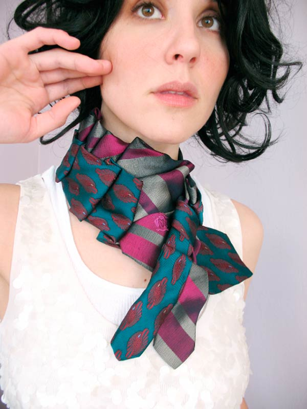 Boston artist and designer Nicole Deponte, who promotes her fashions on Facebook.