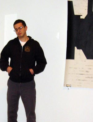 Drew Katz in his gallery.