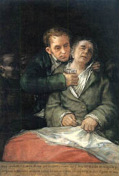 Francisco de Goya y Lucientes, Self Portrait with Dr. Arrieta, 1820, The Minneapolis Institute of Arts.