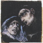 Francisco de Goya y Lucientes, Monk and an Old Woman, 1824-25, Princeton University Art Museum.