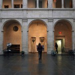 Courtyard inside the main entry of the Fogg Museum