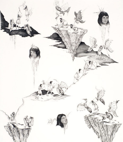 Jessie Rose Vala, We Deserve to Know the Light, graphite on paper, 2007.