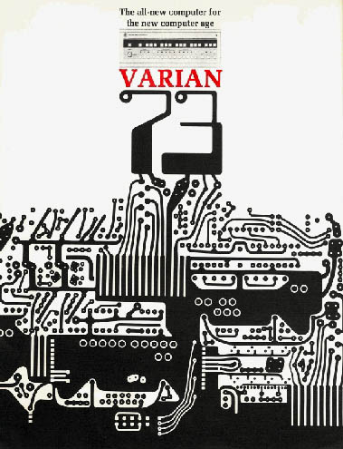 The foreseen future of computing (and heat) represented in this graphic for Varian components in '72.