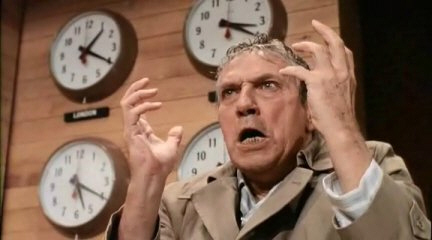 Peter Finch as Howard Beale, from the movie Network, MGM, 1976
