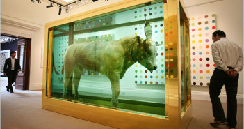 Damien Hirst, The Golden Calf was the top seller at auction recently selling for 18.6 million.