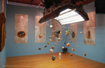 Bruce Conkle and Marne Lucas, installation view of Warlord Sun King: The Genesis of Eco-Baroque, 2009.