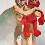 Michael Costello, Rachel with Elmo, oil on canvas