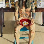 Michael Costello, Sam with Eggs and Spam, oil on canvas