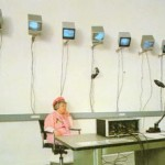 Julia Sher, Security By Julia II, Mixed media, installation view, 1989.