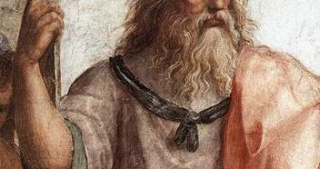 Platon as represented by Raphael in The School of Athens (detail), Fresco, 1509–1510.