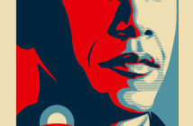 One of Shepard Fairey's posters for Obama.