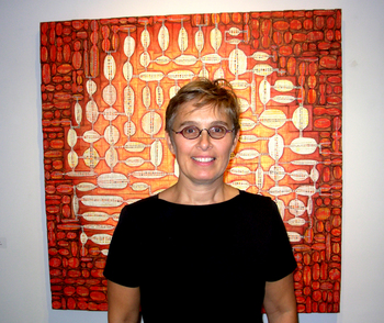 Sarah Slavick makes abstracted relief paintings. Giuliano photos.