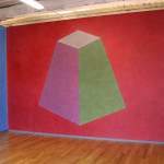 Sol LeWitt, Wall Drawing 527, color ink wash courtesy of the Estate of Sol LeWitt, photograph by John McAlister, courtesy of MASS MoCA