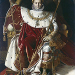 Jean-Auguste-Dominique Ingres, Napoleon I on His Imperial Throne (Napoleon Enthroned),, Oil on canvas, 1806, 260 x 163 cm. Musée de l'Armée, Paris (inv. 4, Ea 89/1), Courtesy of the American Federation of Arts.