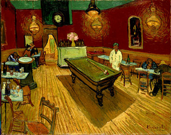 Vincent van Gogh, The Night Cafe, 1888. Yale University Art Museum. Bequest of Stephen Carlton Clark. Images courtesy of the Clark Art Institute.