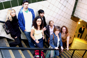 Left to Right: Sandra Powers, Alex Ward, Lina Maria Giraldo, Mark Chariker, Lily Brooks, Heather Wilson, and Tricia O'Neill.