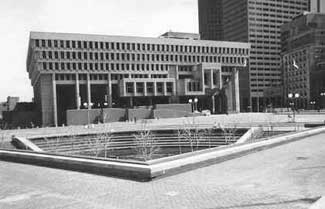 Boston City Hall at Government Center.