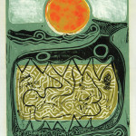 David C. Driskell, Jonah in the Whale, 1967, linocut and collagraph, AP, 16 x 12 inches, collection of the artist. � David C. Driskell, 2007.