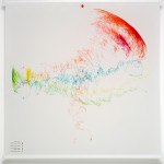 Andrew Mowbray, Wind Driven Drawing, acrylic, polycarbonate, steel, mylar, and pens, 2008.
