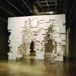 Tobias Putrih & MOS, Without Out, Styrofoam and plywood, 2009.