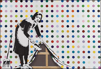 Banksy/Hirst piece sold at the (RED) Auction for $1,870,000 USD