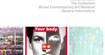 Snapshot from the Broad Art Foundation website with a scrolling slideshow showing works by Andreas Gursky, Barbara Kruger, and Cy Twombly.