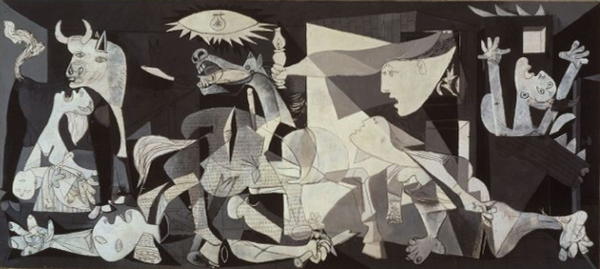Pablo Picasso's Guernica. Image taken from the great resource that is Wikipedia.