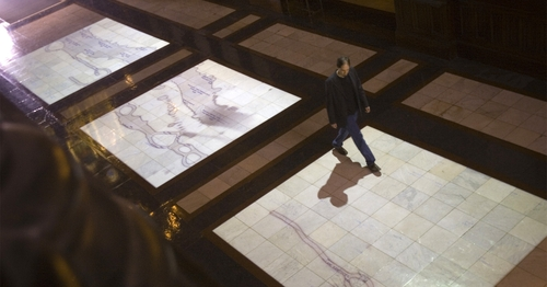 Commissioned by Harvard University, Deep Wounds is a site-specific, interactive installation created for the campus's historic Memorial Hall. The piece was installed for three weeks in April 2006 and was open to the public.