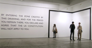 Carey Young, Declared Void, vinyl drawing and text, 2005. Exhibited at Paula Cooper Gallery, New York, as part of the Performa05 Biennial.