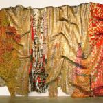 "El Anatsui, ""In the World, But Don't Know the World?"", aluminium and copper wire, 2009."