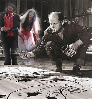 Jackson Pollock shortly before being eaten by a Zombie wedding party.