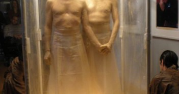 A shot from their latest performance in the Wedlock Project, SHOWER.