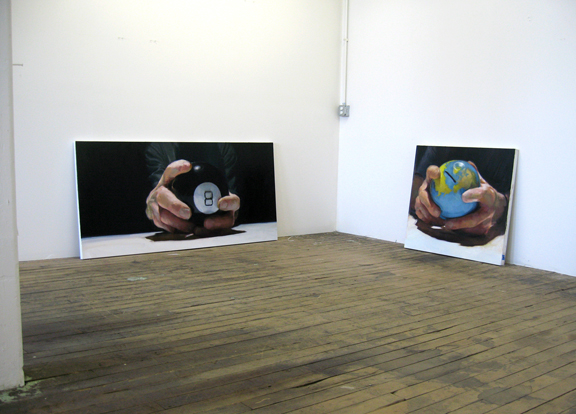 Installation shot featuring 8-Ball and World Bank by Emily Eveleth.