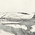 Matthew Gamber, Snowmobile Tracks, County Highway 96, Ohio, silver gelatin print, 2003.