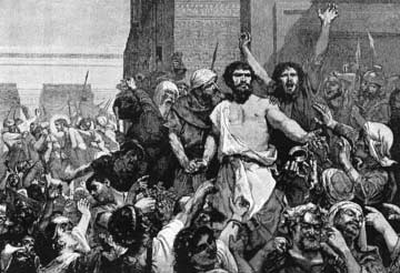 Jesus and Barabbas face peer review.