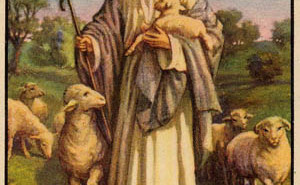 An image of Jesus if he was Northern European and a shepherd, not Middle Eastern or a carpenter.