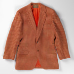Suit jacket worn by Richard Merkin, 1968. F. L. Dunne and Company, tailor, New York and Boston, est. ca. 1910. Wool twill weave.  Gift of Richard Merkin. Museum of Art Rhode Island School of Design, Providence.