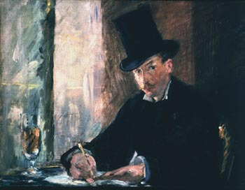 Manet, Chez Tortoni, Oil on canvas, 1878–1880. One of the artworks stolen from the Gardner Museum in 1990.
