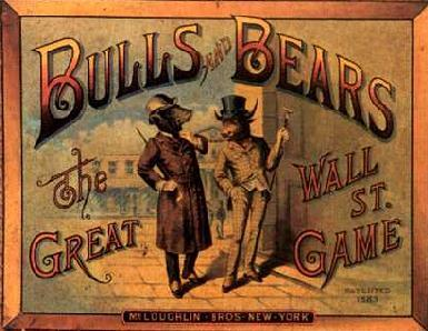 Civility, indeed. The boardgame Bulls and Bears was published by McLoughlin Bros. in 1896.