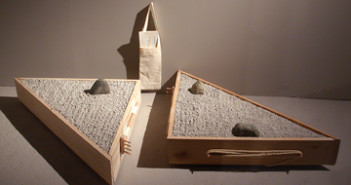 Vaughn Bell, Portable Gardens in a Japanese Style (with instruction manual), mixed media, 2005