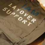 Dean creating his IAM Support jumpsuit to wear during the event.