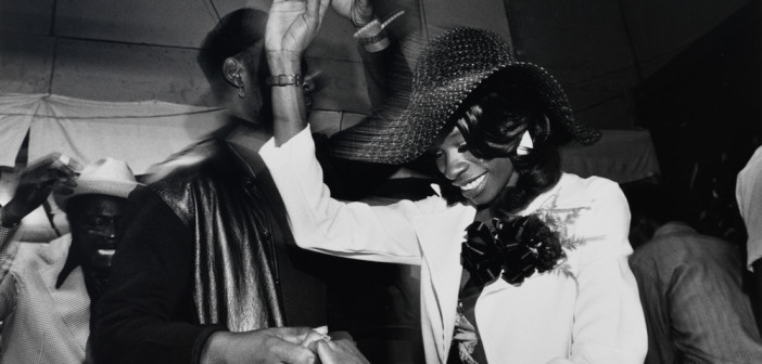 Roland L. Freeman, Dancing at Jazz Alley.  Chicago, Illinois, June 1974, from the series, Southern Roads/ City Pavements, 1974/ Printed 1982, gelatin silver print, Smithsonian American Art Museum, Gift of George H. Dalsheimer,  © 1974 Ronald L. Freeman