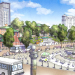 Future Kennedy Plaza from Providence City Hall, Credit: Union Studio Architecture & Community Design