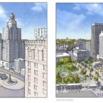 Kennedy Plaza Before and After, Credit: Union Studio Architecture & Community Design