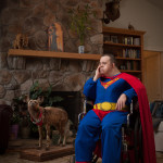 Rick Ashley, Superman with Dingo, 2012 Courtesy of the artist and Panopticon Gallery