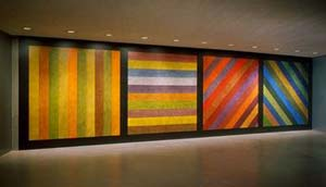 A wall drawing by Sol Lewitt similar to those to be installed at Mass MoCA.