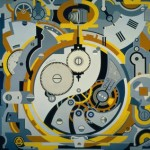 Gerald Murphy, Watch, oil on canvas, 1925. Art © Estate of Honoria Murphy Donnelly/Licensed by VAGA, New York, NY