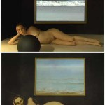 Mary Ellen Strom, Nude No. 2, Hope Clark, Video Projection, 2004. After