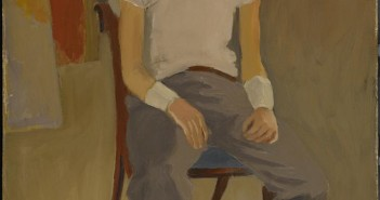 Fairfield Porter  Portrait of Larry Rivers, c. 1951 Oil on canvas, 40 x 30 in. (101.6 x 76.2 cm) Colby College Museum of Art Museum purchase from the Jere Abbott Acquistions Fund